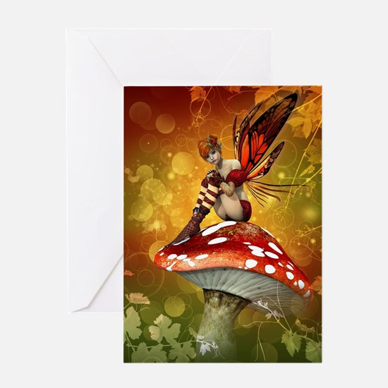 Autumn Fairy Greeting Card