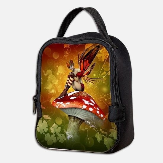 Autumn Fairy Neoprene Lunch Bag