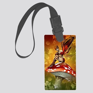Autumn Fairy Large Luggage Tag