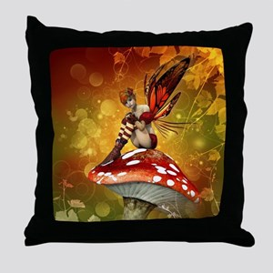 Autumn Fairy Throw Pillow