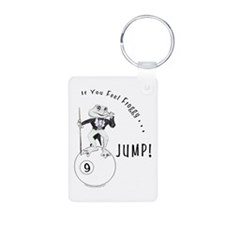 9 Ball Frog Cartoon Aluminum Photo Keychain