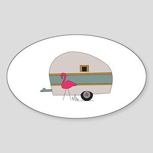 Camper With Flamingo Sticker