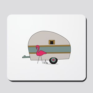 Camper With Flamingo Mousepad