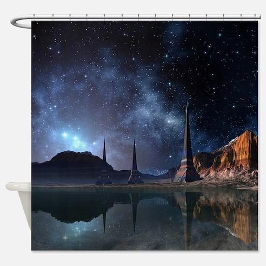 Alien World Shower Curtain