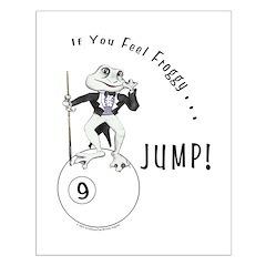 9 Ball Frog Cartoon Posters