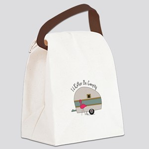Id Rather Be Camping Canvas Lunch Bag