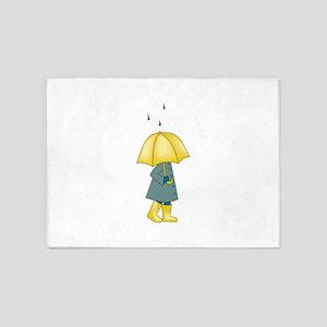 Walking In The Rain 5'x7'Area Rug