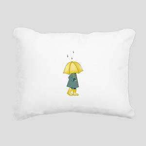 Walking In The Rain Rectangular Canvas Pillow