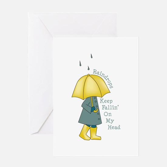 Raindrop Saying Greeting Cards