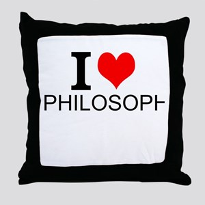 I Love Philosophy Throw Pillow