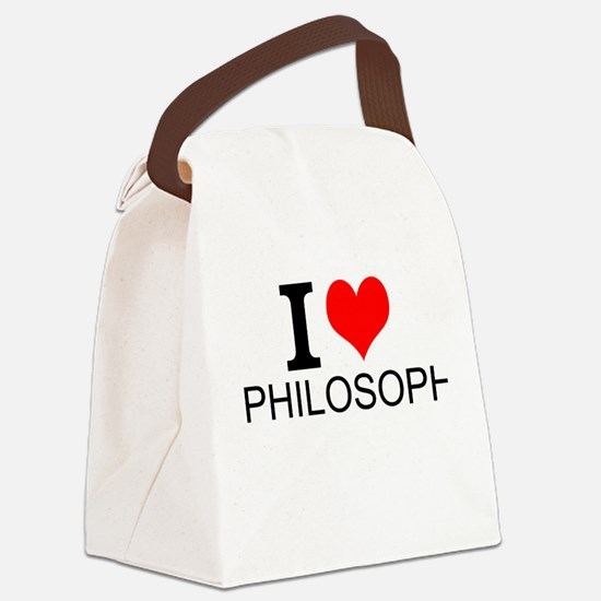 I Love Philosophy Canvas Lunch Bag
