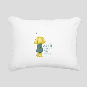 Rain Saying Rectangular Canvas Pillow