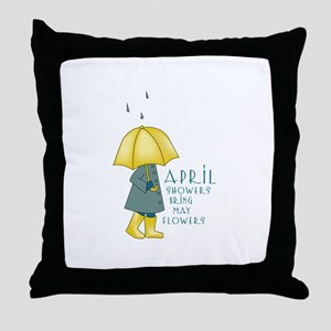 Rain Saying Throw Pillow