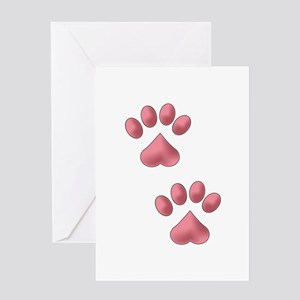 Heart Paws Greeting Cards