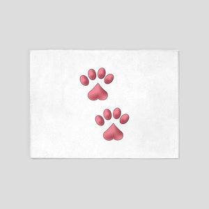Heart Paws 5'x7'Area Rug