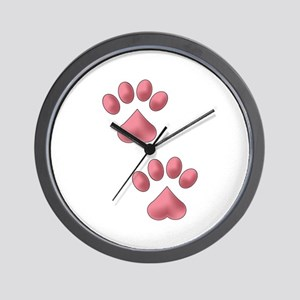 Heart Paws Wall Clock