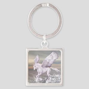 Pegasus-Unicorn Hybrid Square Keychain