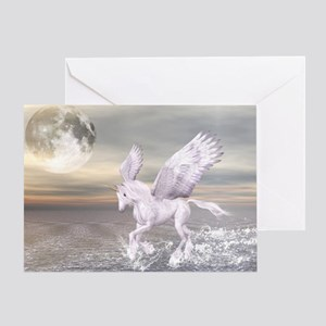 Pegasus-Unicorn Hybrid Greeting Card