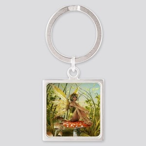 Indian Summer Fairy Square Keychain