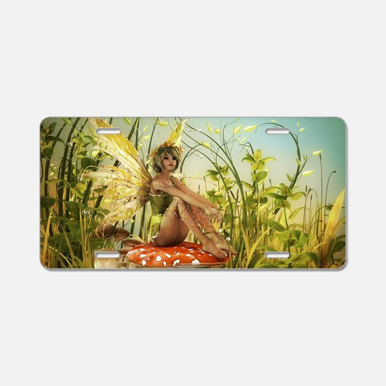 Indian Summer Fairy Aluminum License Plate