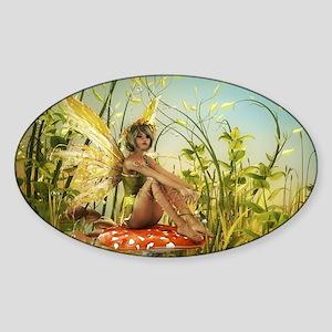 Indian Summer Fairy Sticker (Oval)
