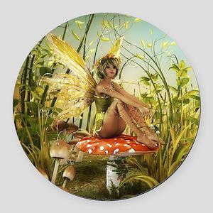 Indian Summer Fairy Round Car Magnet