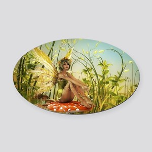 Indian Summer Fairy Oval Car Magnet