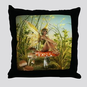 Indian Summer Fairy Throw Pillow