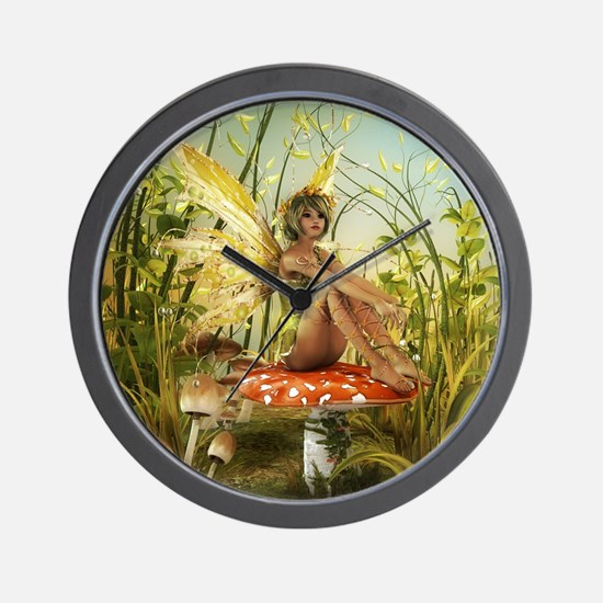 Indian Summer Fairy Wall Clock