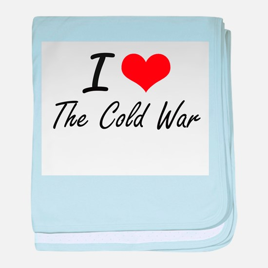 I love The Cold War baby blanket
