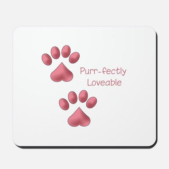 Purr-fectly Loveable Mousepad