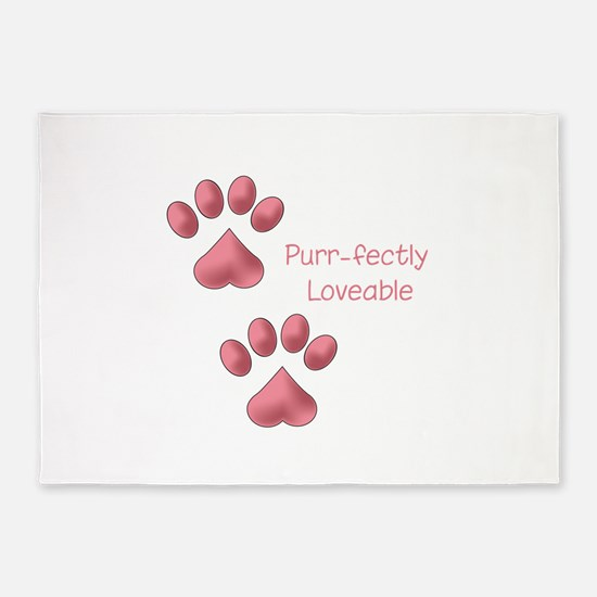 Purr-fectly Loveable 5'x7'Area Rug