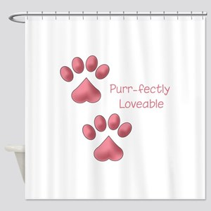 Purr-fectly Loveable Shower Curtain