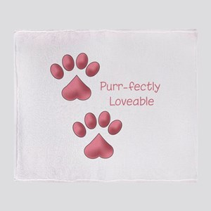 Purr-fectly Loveable Throw Blanket