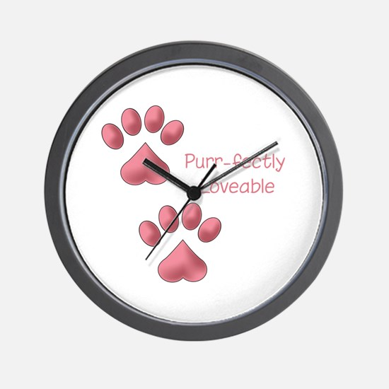 Purr-fectly Loveable Wall Clock