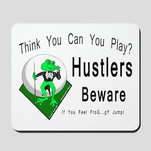 Hustlers Pool Playing Frog Mousepad
