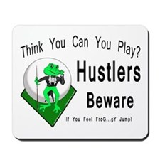 Hustlers Pool Playing Frog Mousepad