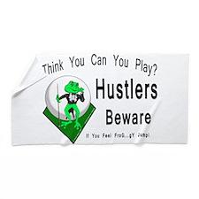 Hustlers Pool Playing Frog Beach Towel