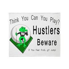 Hustlers Pool Playing Frog Throw Blanket
