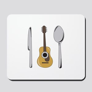 Utensils And Guitar Mousepad
