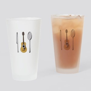 Utensils And Guitar Drinking Glass