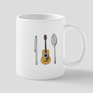 Utensils And Guitar Mugs