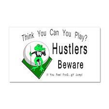 Hustlers Pool Playing Frog Car Magnet 20 x 12