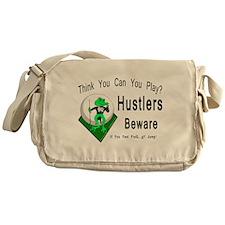 Hustlers Pool Playing Frog Messenger Bag