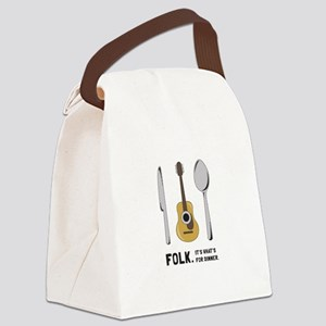 Silverware And Guitar Canvas Lunch Bag