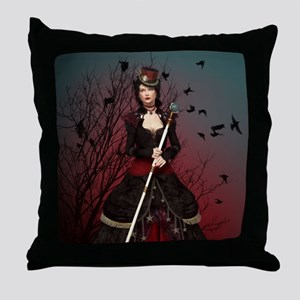 Dark Lady Throw Pillow