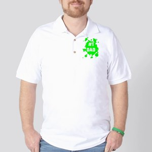 Number One Dad Golf Shirt