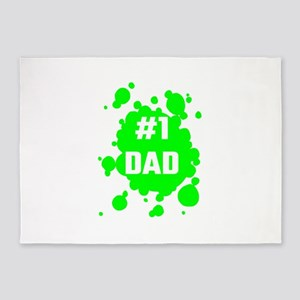 Number One Dad 5'x7'Area Rug