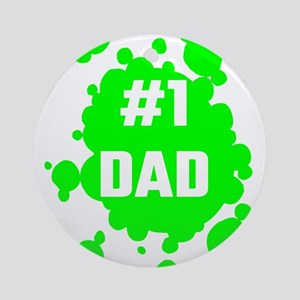 Number One Dad Round Ornament