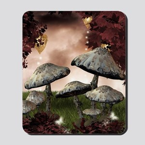 Autumn Mushrooms Mousepad